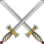 Simplistic Weapon 2 Two Swords in Saltire