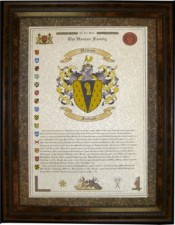 Last Name Origin with Coat of Arms
