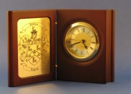 Personalized Desk Clock with Family Crest