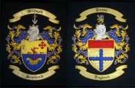 Hand Embroidery Double Coat of Arms