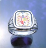 Family Crest Rings – Coat of Arms Ring – Sterling Silver
